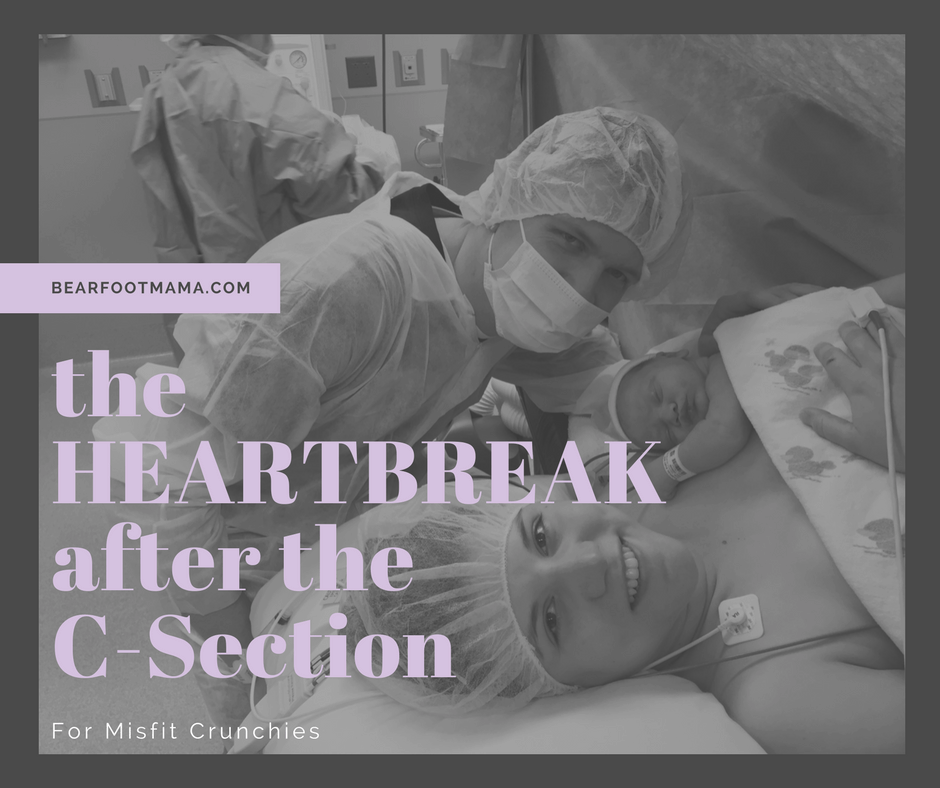Feeling crushed after your birth didn't go the way you planned and prepped for? Finding Peace with C-Sections as a Crunchy Mom. Heal you emotional traumas and learn to love your Gentle Cesarean Section. C-Section recovery tips.