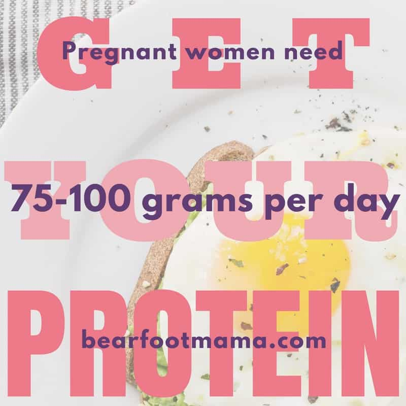 Get your protein! How much protein do pregnant women need? 75-100 grams per day! That is insane! Learn how to have your best pregnancy tips and ideas.