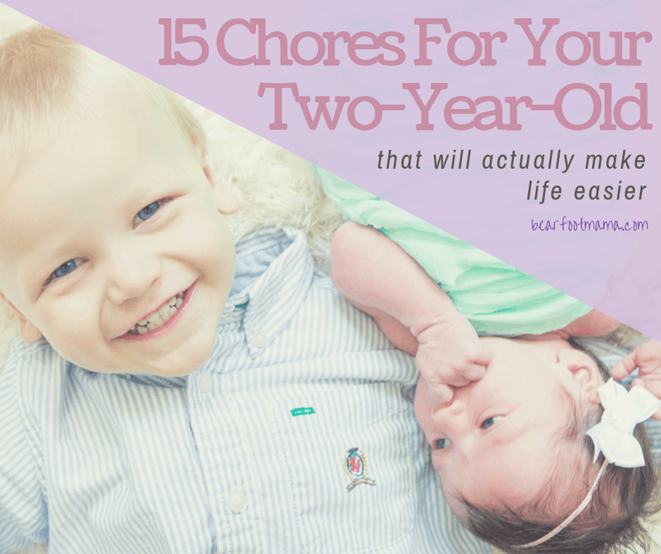15 Chores your two year old toddler can do that will actually make life and your C-Section recovery easier. From the kitchen to laundry!