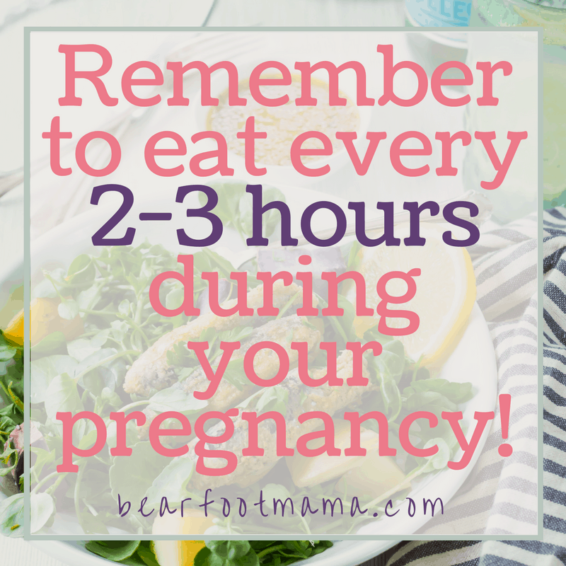 You need to eat every 2-3 hours when you have gestational diabetes